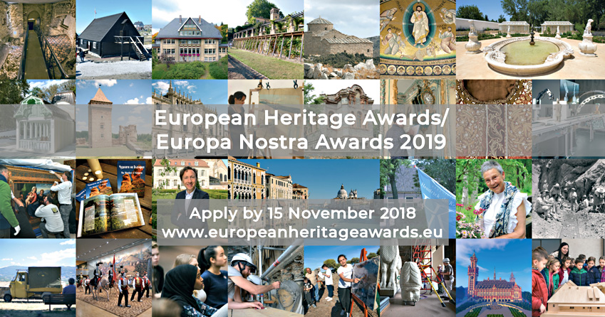 Call for Entries: 2019 European Heritage Awards / Europa Nostra Awards