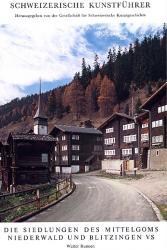 Die Siedlungen des Mittelgoms. Niederwald und Blitzingen VS
