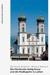 Die Pfarrkirche Heilig Kreuz und die Riedkapelle in Lachen. Kanton Schwyz