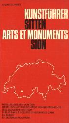 Cover Kunstführer Sitten/Arts et monuments Sion